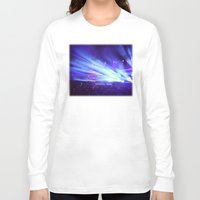 concert Long Sleeve T-shirts featuring Concert Lights by Tyler Shaffer