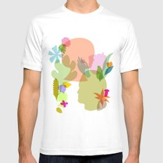 Botany MEDIUM Mens Fitted Tee White