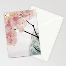 Minimalist Pink Hydrangea Stationery Cards