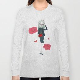 Stylish Parisian girl Long Sleeve T-shirt
