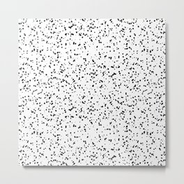 Speckles I: Double Black on White Metal Print