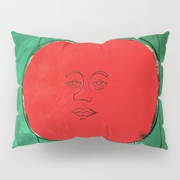 Tomato Face - Abstract Surrealism psychedelic illustration Pillow Sham