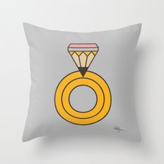 Draw Ring Throw Pillow
