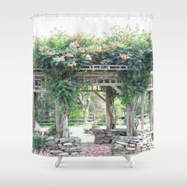 Gazebo with Lavendar Shower Curtain