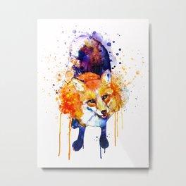 Cute Happy Fox Metal Print