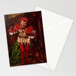 Keying Up - The Court Jester by William Merritt Chase Stationery Cards