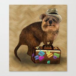 Traveller // quokka Canvas Print