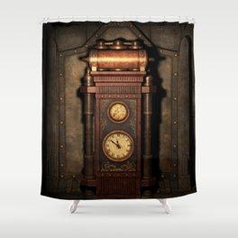 Steampunk Generator Bronze Shower Curtain
