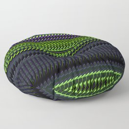 Apple Grape Rag Weave by Chris Sparks Floor Pillow