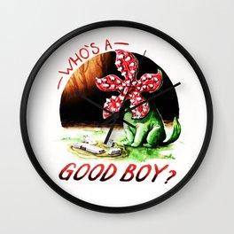 whos a Good boy Wall Clock