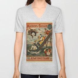 Vintage poster - Coney Island Unisex V-Neck