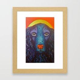 Enlightened Dog Framed Art Print