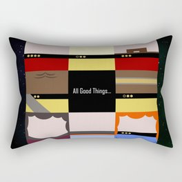 All Good Things - square Minimalist Star Trek TNG The Next Generation 1701 D  startrek  Trektangles Rectangular Pillow