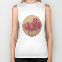 antique Biker Tanks featuring Antique Tulips by Jessica Torres Photography