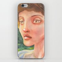 sylvia plath iPhone & iPod Skins featuring Sylvia by Nopo Watercolor Art