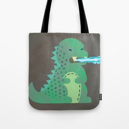 Baby Godzilla Breathing Fire Tote Bag
