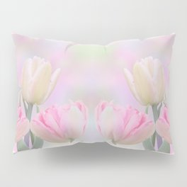 Painterly Pastel Tulips Pillow Sham