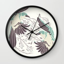 Birds of Summer Wall Clock