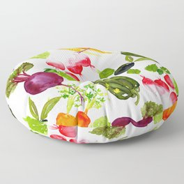 Mixed Vegetables Floor Pillow
