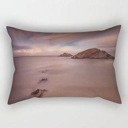 Sunset on Mumbles lighthouse Rectangular Pillow