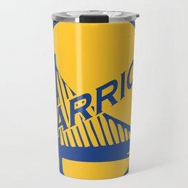 Golden State blue basketball logo Travel Mug