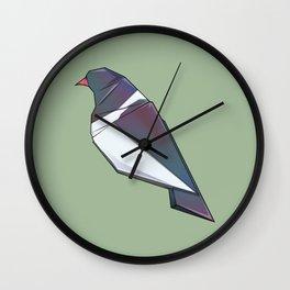Kereru Origami Wall Clock