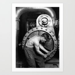 Power House Mechanic 1920 - Lewis Hine Art Print