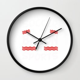 Soccer is the Bacon of Sports Funny Wall Clock