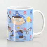 police Mugs featuring Police by Alapapaju