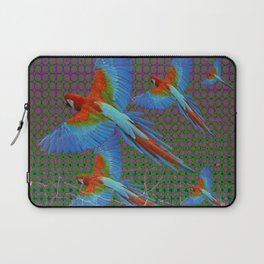 SHABBY CHIC BLUE MACAWS FLIGHT Laptop Sleeve