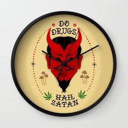Do Drugs, Hail Satan Wall Clock