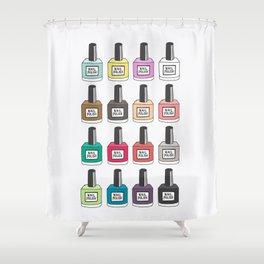Nail Polish-holic Shower Curtain