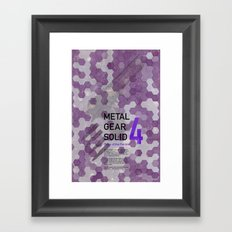 Metal Gear Solid 4: Guns of the Patriots Framed Art Print