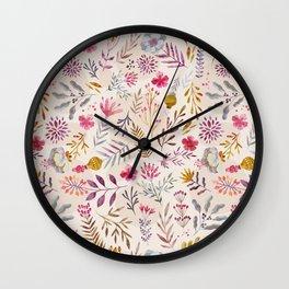 Light floral Wall Clock