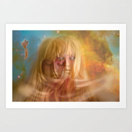 Ethereal gaze Art Print