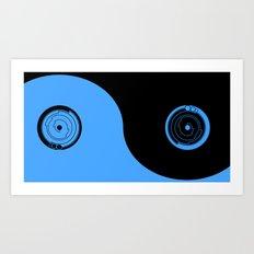 tech yin-yang-sky Art Print