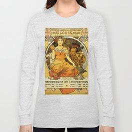 """Alphonse Mucha """"World's Fair, St. Louis, Missouri"""", 1904 Long Sleeve T-shirt"""