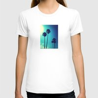 palm trees T-shirts featuring Palm Trees by Derek Fleener