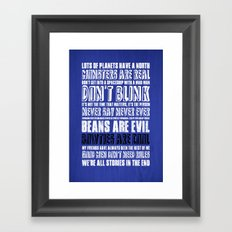 What I've learned from Doctor Who Framed Art Print