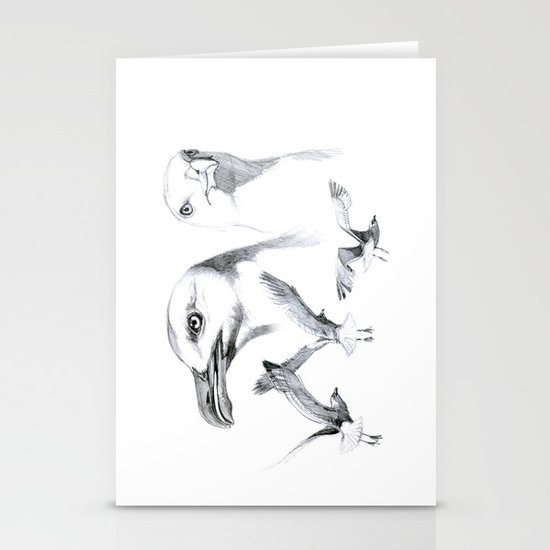 Great Black-backed Gull - Larus marinus   SK043 Stationery Cards