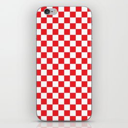 Red Checkerboard Pattern iPhone Skin