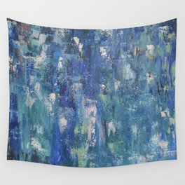 Abstract blue Wall Tapestry