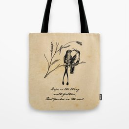 Emily Dickinson - Hope is the Thing with Feathers Tote Bag
