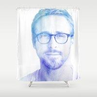 ryan gosling Shower Curtains featuring Ryan by ThisTinyBean.