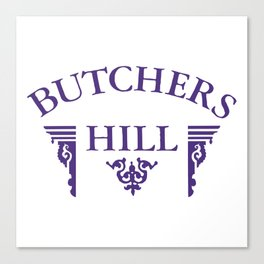 Butchers Hill Classic Style Logo Canvas Print