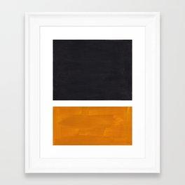 Black Yellow Ochre Rothko Minimalist Mid Century Abstract Color Field Squares Framed Art Print