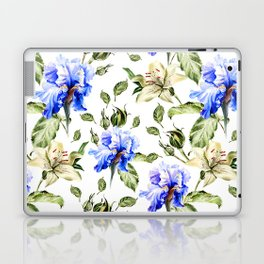 Irisis and lilies - flower pattern no3 Laptop & iPad Skin