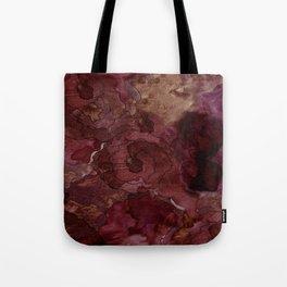 Rose, Burgundy and Merlot Watercolor Flowers Tote Bag