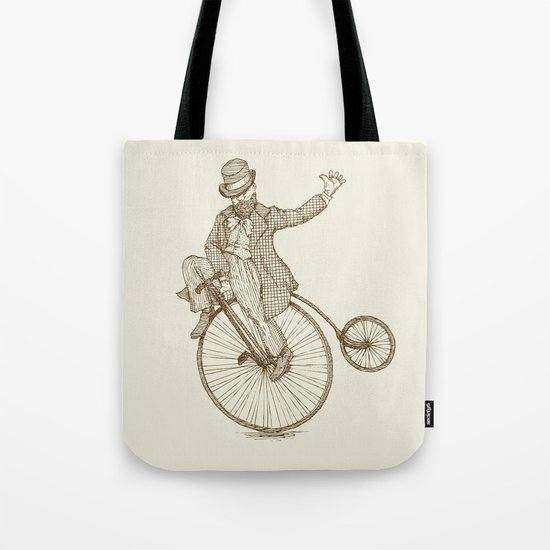 Flatland Penny Farthing Tote Bag