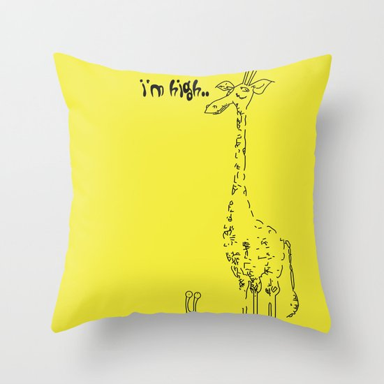 High Giraffe Throw Pillow
